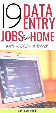 Data Entry Jobs from Home for beginners. Find data entry work from home jobs legitimate. Best work from home jobs for beginners with no experience. Become a data entry clerk today and earn money from home! 10 companies hiring data entry clerks now. Online Data Entry Jobs, Online Jobs From Home, Work From Home Jobs, Online Work, Online College, Legit Online Jobs, Online Help, Work From Home Opportunities, Kids Online