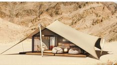 [orginial_title] – Chazz LaBeouf Where Will Meghan Markle And Prince Harry Honeymoon? GLAMPING The Hoanib Valley Camp is super private, and the suites are designed to look like they are topped by a tent for an authentic safari feel. Camping Glamping, Outdoor Camping, Camping Tips, Hotel San Francisco, Tent Living, Wall Tent, Prinz Harry, Tent Design, Luxury Tents
