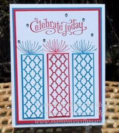 Non-traditional stamps for patriotic card