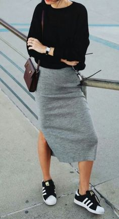 e1875f6eef2 48 Fabulous Work Outfit Ideas With Sneakers and Look Professional