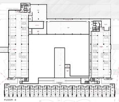 Image 15 of 31 from gallery of Yellow Hotel / PLAN Associated Architects. Spa Interior Design, Hospital Architecture, Contemporary Building, Floor Plans, Architects, How To Plan, Gallery, Yellow, Thesis