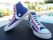 Converse Chuck Taylor All Star High Tops Stars Men's 10 USA Red White Blue Retro