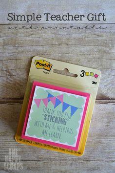 Last Minute Teacher Gift - The Happy Scraps