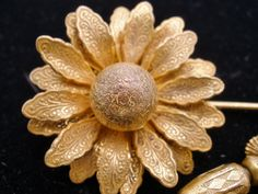 Vintage Miriam Haskell Flower Stick Pin by TheJewelryLadysStore
