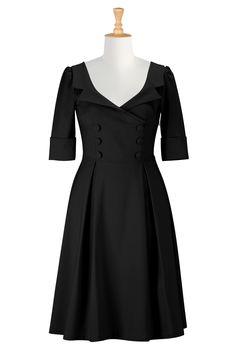 A Black Coat Dress, 40 S Style Dresses Plus Size Shop womens designer dresses - Bridesmaid Dresses, Bridesmaid Dress, Bridesmaid's dress, Dr...