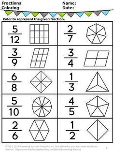 With this FREE printable fractions introduction worksheet ...