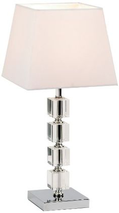 From 27.27:Modern Table Lamp With Chrome & Acrylic Stem | Shopods.com