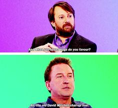 When you see someone you like in a bar: | 23 David Mitchell Quotes That Are Too Real For People Who Hate Everything
