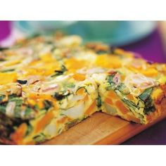 Pumpkin, spinach and fetta frittata recipe - By Australian Women's Weekly, This…