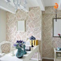 Papel de Parede Renda, deixe sua parede linda como nunca! www.adsiveshop.com.br