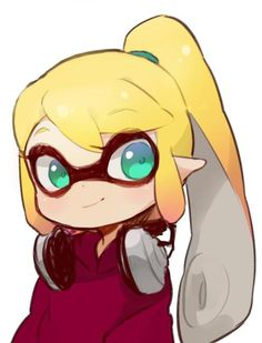 Inkling girl with ponytail | Splatoon | Know Your Meme