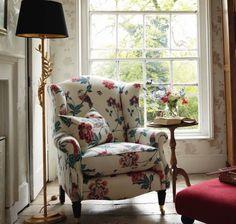 Laura Ashley chair. Drool.