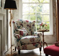 Laura Ashley chair. Drool.