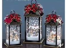 Diy christmas decorations 158470480626086396 - Unique DIY Christmas Lantern Decoration Ideas / Inspo – Hike n Dip Source by srirupmazumdar Lantern Christmas Decor, Christmas Village Display, Noel Christmas, Rustic Christmas, Simple Christmas, Beautiful Christmas, Christmas Wreaths, Christmas Ornaments, Christmas Projects