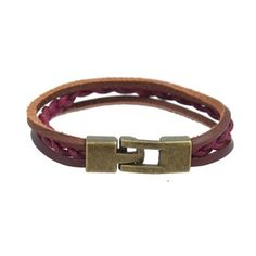Genuine Leather Braided Wrap Bracelet in that perfect deep wine tone. $12 www.mooreaseal.com