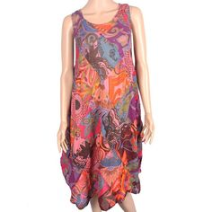 Long summer dress - Knee length- Soft and comfortable