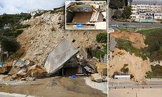 A large section of the 100ft cliffs in Bournemouth collapsed overnight, damaging the popular cliff railway. It's believed heavy rain and a sudden drop in temperature could have triggered the cliff fall.