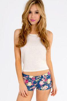 Francine Floral Shorts $42 at www.tobi.com