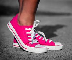 pink converse sneakers...I miss my old burgundy ones...I should def replace with these!