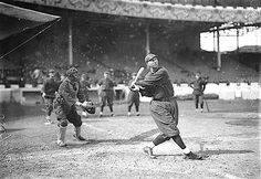 """BATTING: Eddie Grant, Cincinnati NL, at Polo Grounds, NY.  Captain Grant commanded troops on a four-day search for the """"Lost Battalion"""" in World War I.  During the search, an exploding shell killed Grant on October 5, 1918. He was the first (former) Major League Baseball player killed in action in World War I. Grant played for four teams. The last (1913-1915) with the New York Giants.  [No. 2]"""