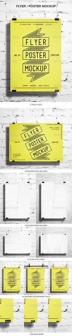 Buy Flyer / Poster Mockup by graphicovy on GraphicRiver. Flyer / Poster Mockup Clean and easy to use Flyer / Poster Mockup. Present Your Work like Flyers, Posters, Stationery. Web Design, Tool Design, Flyer Design, Mockup Templates, Brochure Template, Flyer Poster, Typography Design, Lettering, Typography Poster