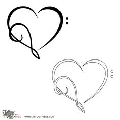 Tatuaggio di Cuore musicale, Amore per la musica tattoo - custom tattoo designs on TattooTribes.com