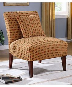 @Overstock - Complete your living room collection with this autumn windows accent chair. This furniture features a dark walnut finish and a durable upholstered seat and back.http://www.overstock.com/Home-Garden/Autumn-Windows-Accent-Chair/2488645/product.html?CID=214117 $164.99