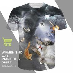 It's true, men love cats too! Get this Men's Cat T-shirt for those men bold enough to show that Real Men Love Cats! Cat t-shirts, hats, gifts, and accessories for guys and their favorite feline pet. Cartoon T Shirts, 3d T Shirts, Casual T Shirts, Printed Shirts, Casual Tops, Tee Shirt Homme, Shirt Men, Funny Outfits, Funny Tees