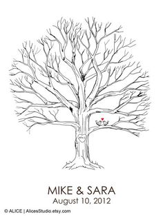 Fingerprint Tree Print Poster - 18x24in - 120-160 Thumb prints  I think I am going to attempt to make this myself. Eeek!