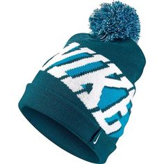 Nike Women's Cuffed Pom Knit Hat NO TRADES The Nike® Women's Cuffed Pom Knit Hat delivers classic cold-weather style in a relaxed design. Made with soft acrylic fabric, this hat provides comfortable, reliable warmth. A longer profile allows for a versatile look, and the pom on top offers iconic, eye-catching style. Knit hat Soft, snug-fitting acrylic for warmth Longer profile for versatile style Pom on top for a classic cold-weather look Care Instructions: Hand wash Fabric: 100% acrylic Nike…