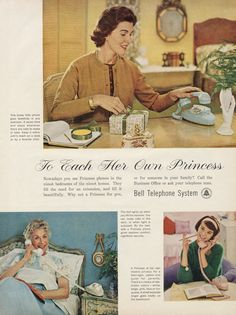 1961 Bell Telephone System Ad Princess Phone by AdVintageCom