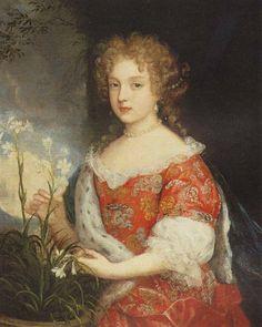 Portrait of Ludwika Karolina Radziwil - unknown painter