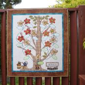 Appliqued Family Tree with Flowers - via @Craftsy