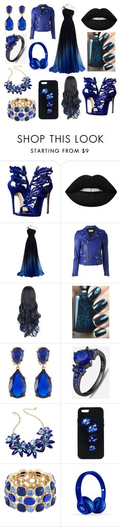 """And she cried a sea full of tears"" by jaguarwood ❤ liked on Polyvore featuring Giuseppe Zanotti, Lime Crime, Yves Saint Laurent, Kenneth Jay Lane, Kate Spade, STELLA McCARTNEY, Monet, Beats by Dr. Dre, BeYou and anascreations"