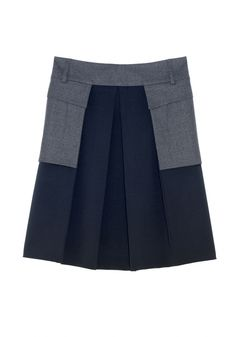 QL2 - ELIZA COLOR BLOCK SKIRT  (LIGHTS AND SHADOWS) #women's #fashion
