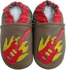 carozoo guitar brown 6-12m soft sole leather baby shoes