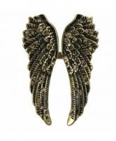 Vintage Angel Wings Rhinestone Ring - Sheinside.com