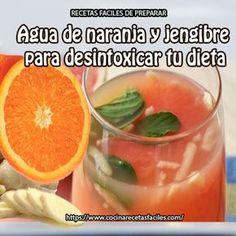 Agua de naranja y jengibre para desintoxicar tu dieta