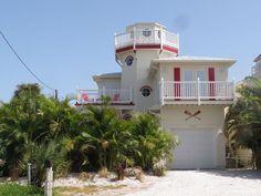 Lighthouse Beach Home in Holmes Beach, FL.  Vacation Rental.
