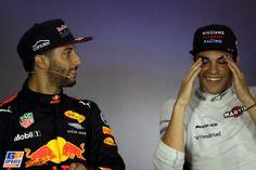 Daniel Ricciardo, Lance Stroll, Formule 1 Grand Prix van Azerbeidzjan 2017, Formule 1