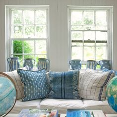 Practically every room in your home is decorated with a blue and white color palette.