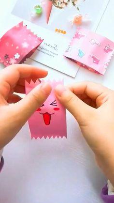 Cool Paper Crafts, Paper Crafts Origami, Diy Paper, Fun Crafts, Crafts For Kids, Mode Origami, Instruções Origami, Diy Crafts Hacks, Diy Crafts For Gifts