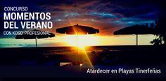 Ganador del Concurso MOMENTOS DEL VERANO con Kosei Profesional: Titulo: Atardecer en playas tinerfeñas