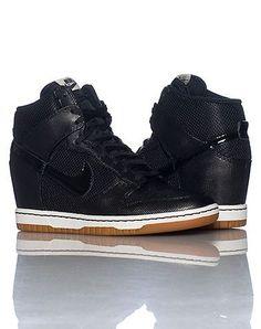 black nike sneaker wedges
