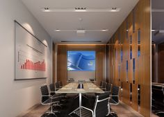 Modern minimalist Digital Meeting room interior design - Interior Design
