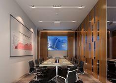 Modern minimalist Digital Meeting room interior design - Interior Design