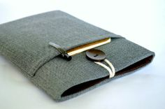 Mini étui, Mini Pochette, iPad iPad iPad Mini Couverture capitonné gris Herringbone sur Etsy, $35.84 CAD