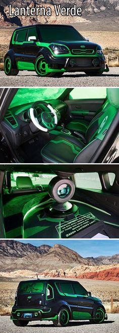 Kia Soul Lanterna Verde  Wouldnt drive it but sweet