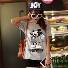 CASUAL MICKEY TOP Price : RM26 #yoloveitmy #yoloveitmalaysia #mickey #disney #under50 #grey #childhood #cute #casual #top