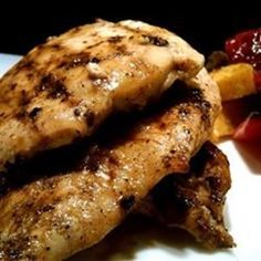 This is a quick and easy (and very tasty!) prep for chicken breasts. Serve with a green salad and a rice dish.  Allrecipes.com